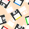 Vector clipart: background of floppy discs