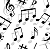 Vektor Cliparts: Musik Noten. Nahtlose Tapete.