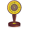 Vector clipart: vintage clock shortly before midnight.