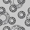 Vector clipart: bearings. Seamless pattern.