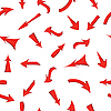 set of red arrows, seamless pattern.
