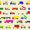 Vector clipart: background of trucks