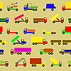 Векторный клипарт: фон из грузовиков