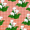 Vector clipart: Background with White Callas. Seamless pattern.