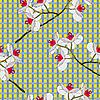 Vektor Cliparts: Orchid Blumen. Nahtlose Tapete.