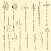 Vector clipart: Weapon collection, medieval weapons