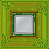 Vektor Cliparts: Computer-Prozessor auf der Platine