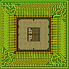 Vector clipart: modern computer is the processor on chip