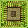 Vektor Cliparts: Der moderne Computer ist der Prozessor auf einem Chip