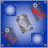Vektor Cliparts: der abstrakten metallischen Hintergrund