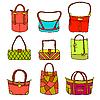 Vector clipart: collection of woman's accessories