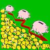 Vektor Cliparts: Die Finanzkrise Konzept