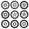 Vector clipart: automotive alloy wheels