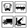 Vektor Cliparts: Sammlung von Transport Symbole