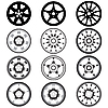 Vector clipart: automotive alloy wheels