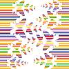 Vektor Cliparts: bunter Schmetterling Hintergrund