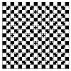 Vektor Cliparts: Illusion von Volumen in schwarzen und weißen Quadraten