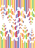 Vector clipart: colorful butterfly background