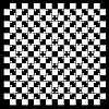 Vector clipart: illusion of volume in black and white squares