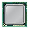 Vector clipart: modern multi core processor CPU computer