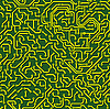 Vector clipart: Seamless pattern. Computer circuit board.