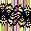 Векторный клипарт: красочный фон бабочки