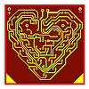 Vector clipart: Circuit board pattern in the shape of the heart.. V