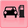 Vector clipart: Icon of the car refueling with gasoline