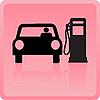 Vektor Cliparts: Icon des Autos Betankung mit Benzin