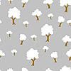 Vector clipart: Seamless tree plant pattern background in