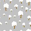 Vektor Cliparts: Nahtlose Baum zu pflanzen Muster Hintergrund