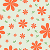 Vector clipart: floral background with set of different flowers.