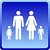 Векторный клипарт: Человекные и женщина значок с детьми