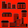 Vector clipart: different kind of houses and buildings -