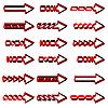 Vektor Cliparts: von roten Pfeilen set