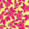 Векторный клипарт: цветочные обои с множеством разных цветов.