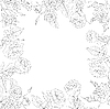 Vector clipart: floral background, frame of flowers