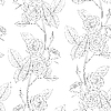 Vector clipart: seamless flower background of roses
