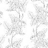Vektor Cliparts: nahtloser Blumen-Hintergrund von Rosen