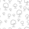 Vector clipart: Seamless tree plant pattern