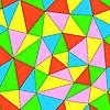 Векторный клипарт: абстрактных цветных геометрических фон