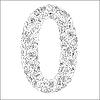 Векторный клипарт: Цветочный алфавит из красных роз, символ 0