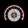 Векторный клипарт: спидометр с мишенью в центре