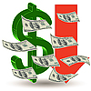 Vector clipart: Crisis finance - the dollar symbol