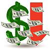 Векторный клипарт: Кризис финансов - доллар символа