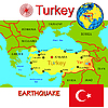 Vector clipart: Turkey map with epicenter earthquake.