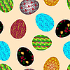 Photo 300 DPI: Seamless background with easter eggs