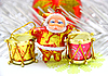 Santa Claus doll with drums | Stock Foto