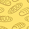 Vector clipart: loaf of bread. Seamless wallpaper.