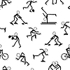 Vector clipart: sport icons. Seamless wallpaper.